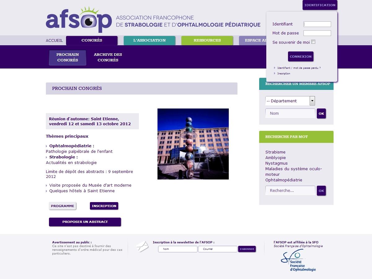 AFSOP : Participation au prochain congrès